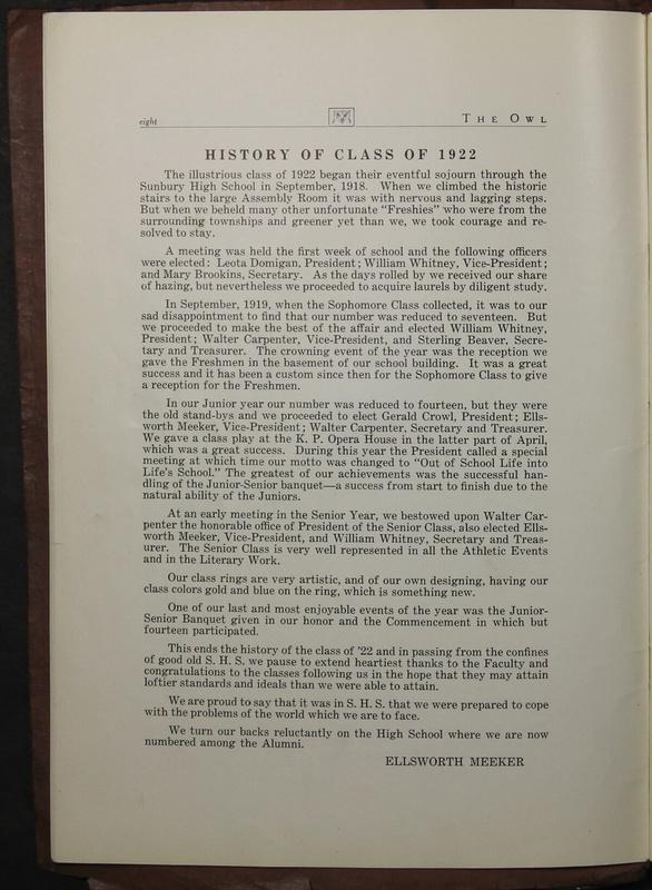 The Owl, Vol. II, 1922 (p.10)