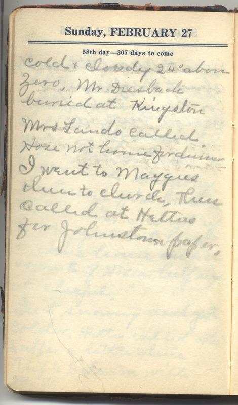 Roberta Hopkins' Diary 1927 (p. 64)