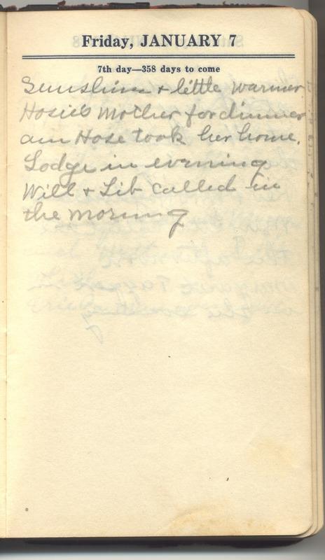 Roberta Hopkins' Diary 1927 (p. 13)