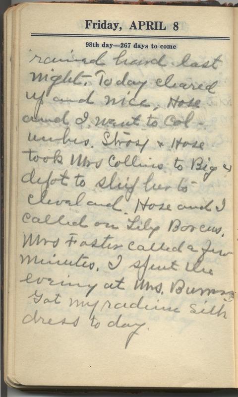 Roberta Hopkins' Diary 1927 (p. 104)