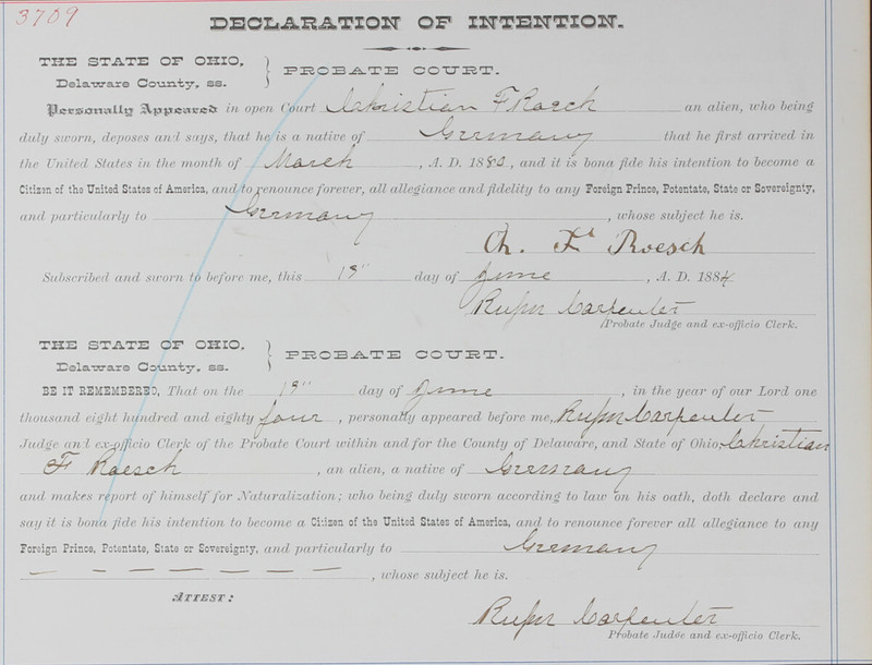 Naturalization Records Delaware County OH (p. 142)