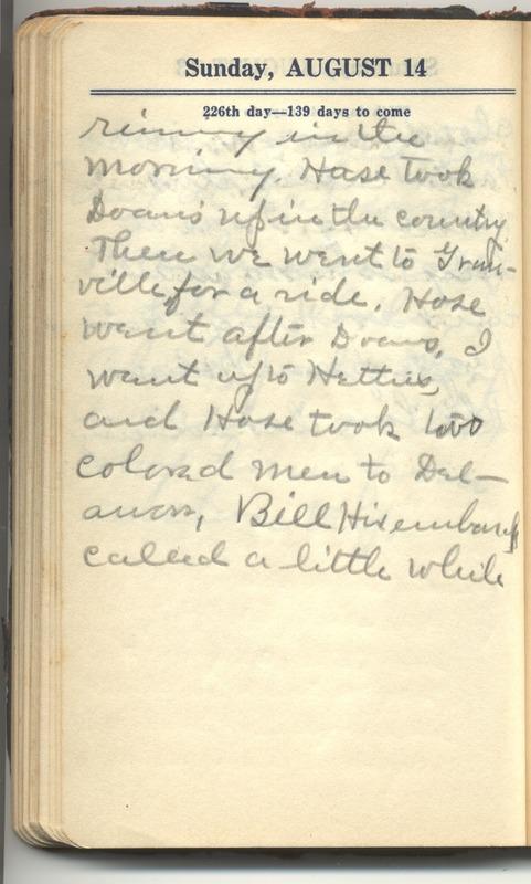 Roberta Hopkins' Diary 1927 (p. 232)
