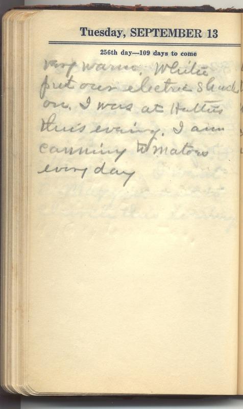 Roberta Hopkins' Diary 1927 (p. 262)
