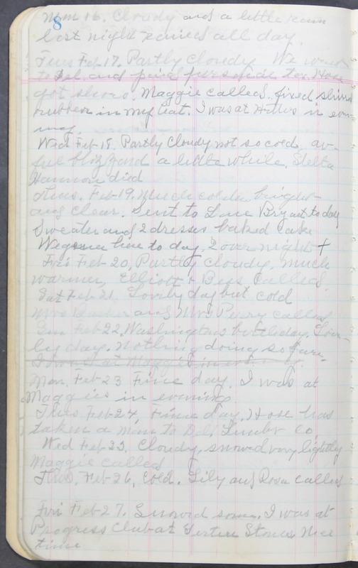 Roberta Hopkins' Journal 1941-1943 (p. 22)