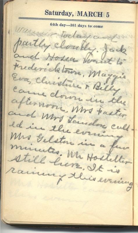 Roberta Hopkins' Diary 1927 (p. 70)