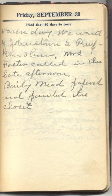 Roberta Hopkins' Diary 1927 (p. 279)