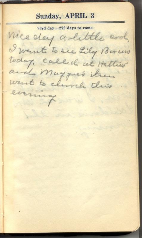 Roberta Hopkins' Diary 1927 (p. 99)