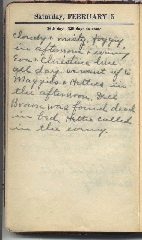 Roberta Hopkins' Diary 1927 (p. 42)