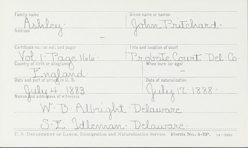 Naturalization Records Delaware County OH (p. 74)