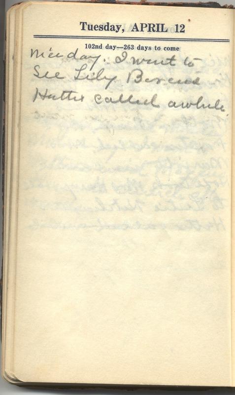 Roberta Hopkins' Diary 1927 (p. 108)