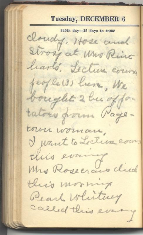 Roberta Hopkins' Diary 1927 (p. 346)