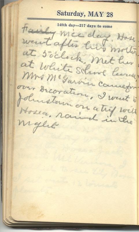 Roberta Hopkins' Diary 1927 (p. 154)