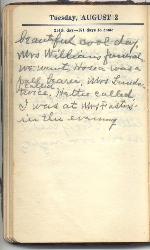 Roberta Hopkins' Diary 1927 (p. 220)