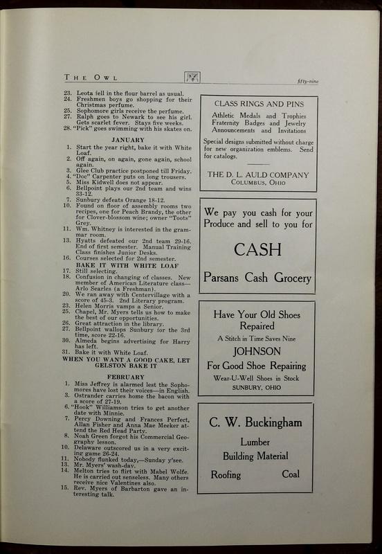 The Owl, Vol. II, 1922 (p.61)