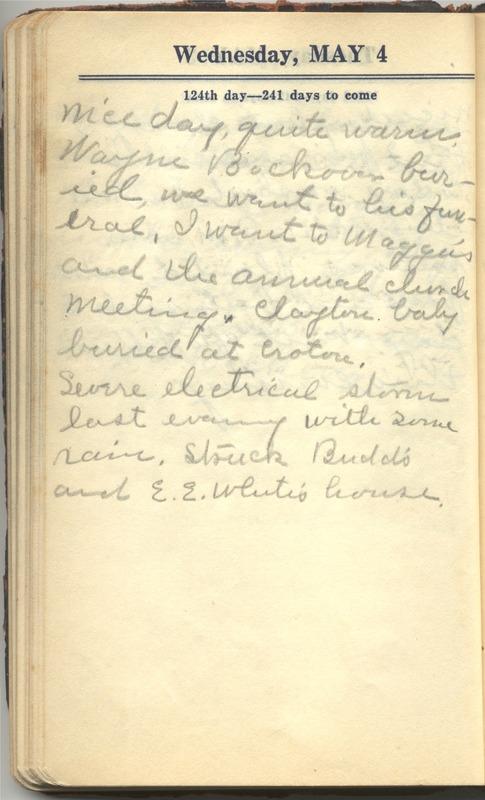 Roberta Hopkins' Diary 1927 (p. 130)