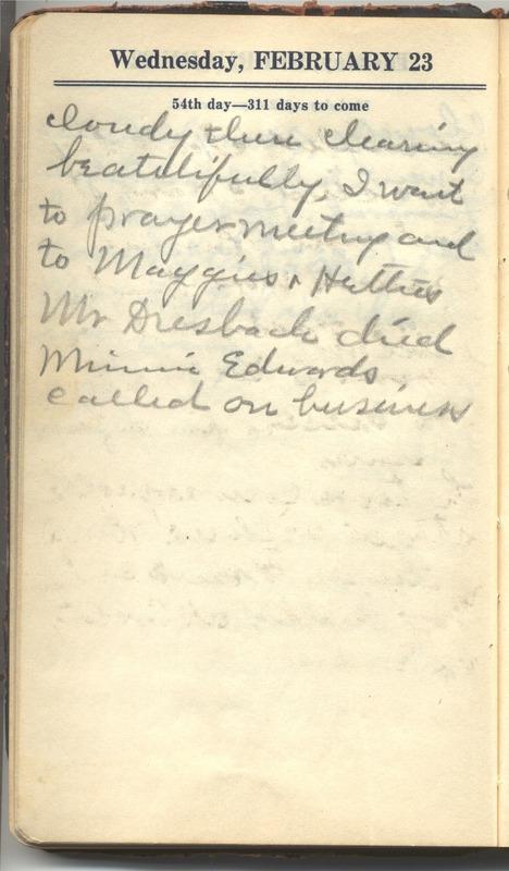 Roberta Hopkins' Diary 1927 (p. 60)