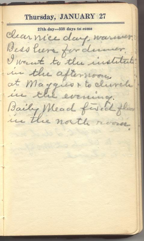 Roberta Hopkins' Diary 1927 (p. 33)