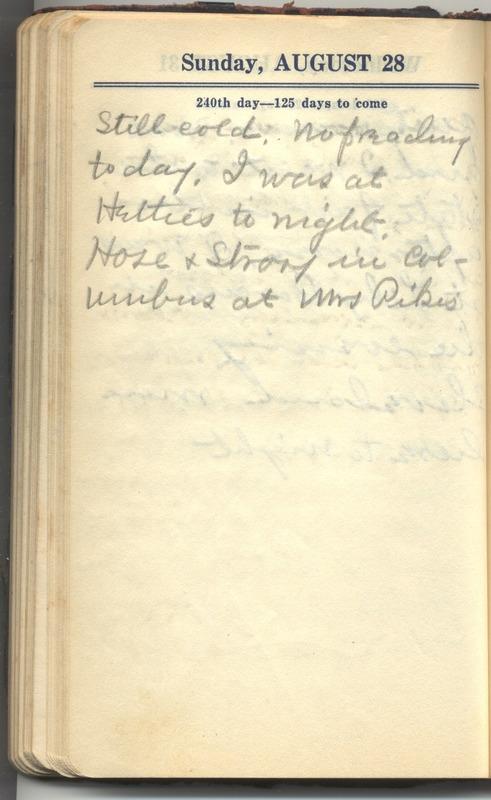 Roberta Hopkins' Diary 1927 (p. 246)