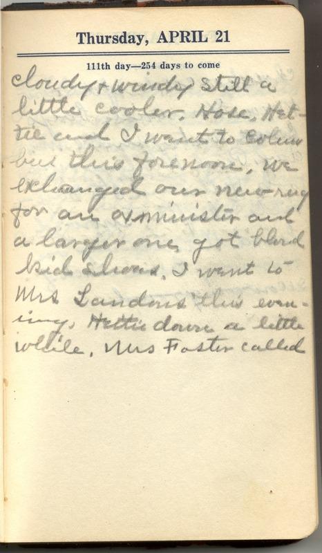 Roberta Hopkins' Diary 1927 (p. 117)