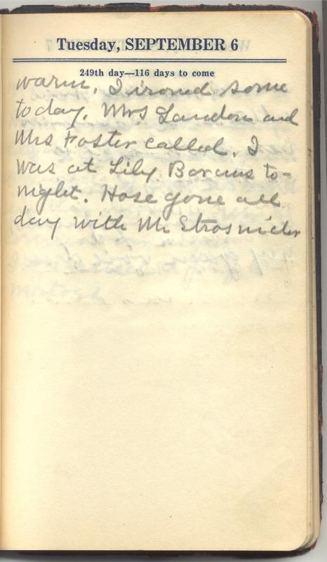 Roberta Hopkins' Diary 1927 (p. 255)