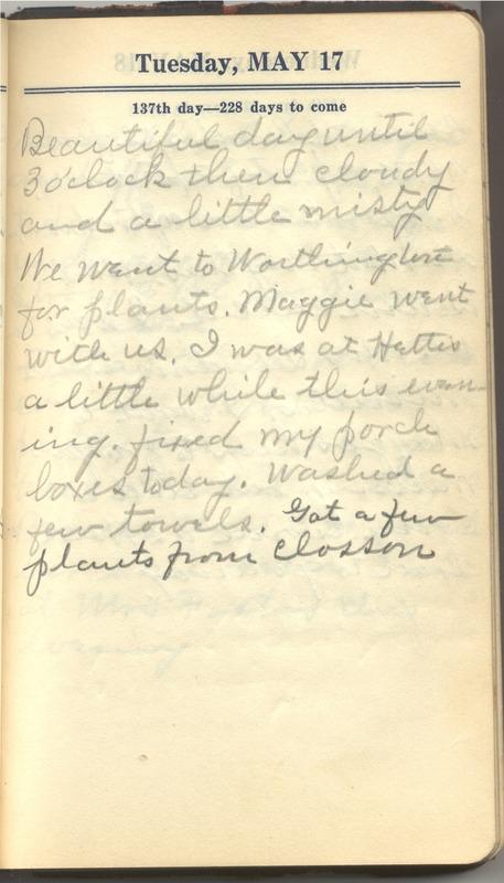 Roberta Hopkins' Diary 1927 (p. 143)