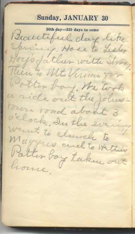 Roberta Hopkins' Diary 1927 (p. 36)
