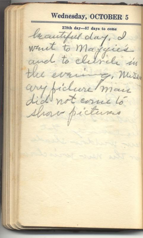 Roberta Hopkins' Diary 1927 (p. 284)