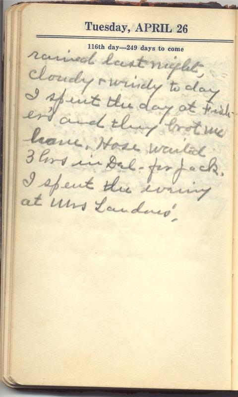 Roberta Hopkins' Diary 1927 (p. 122)