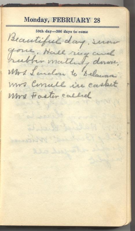 Roberta Hopkins' Diary 1927 (p. 65)