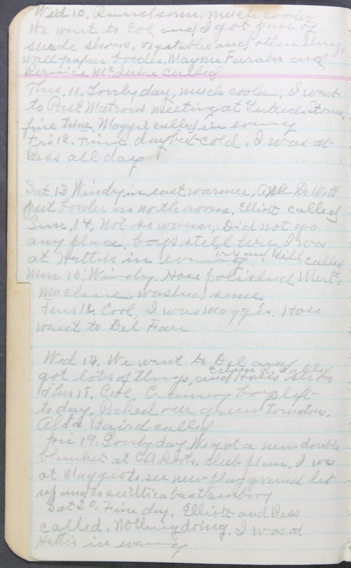 Roberta Hopkins' Journal 1941-1943 (p. 8)