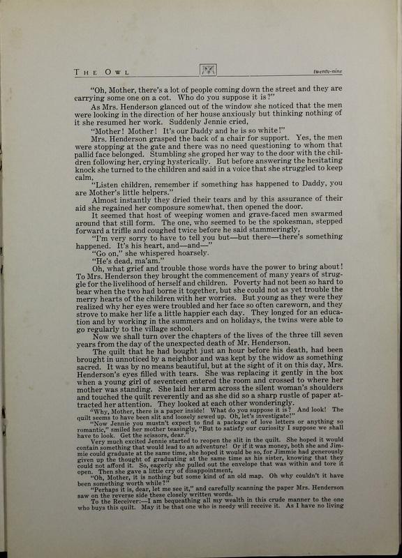 The Owl, Vol. II, 1922 (p.31)