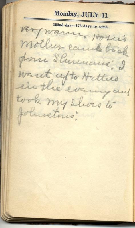 Roberta Hopkins' Diary 1927 (p. 198)