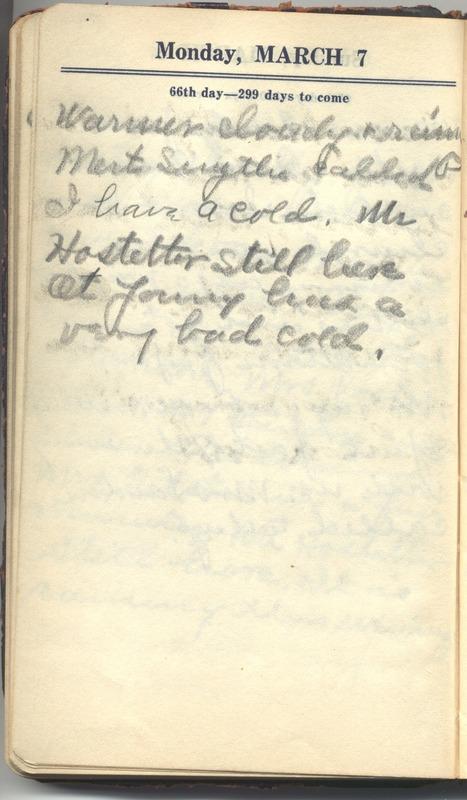Roberta Hopkins' Diary 1927 (p. 72)
