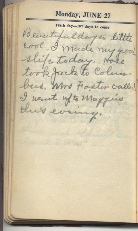 Roberta Hopkins' Diary 1927 (p. 184)