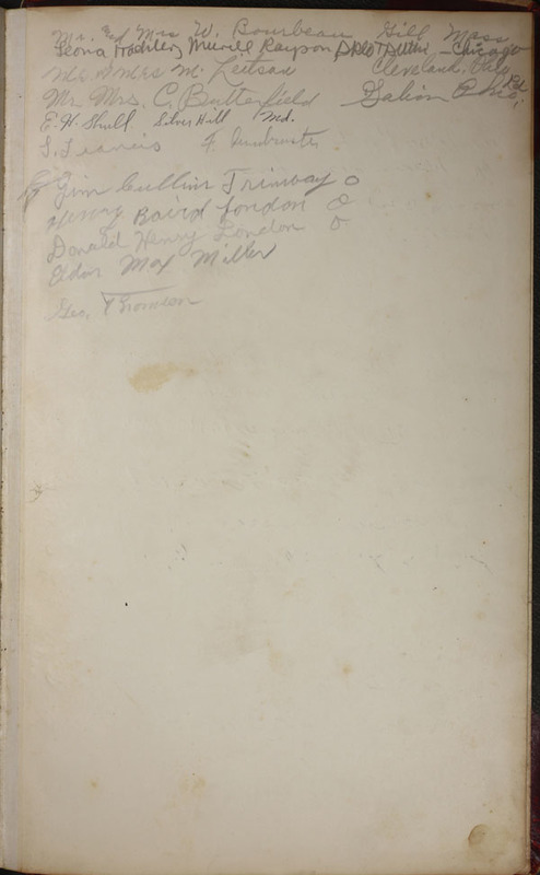 Hopkins House Day Book 1933-1945 (p. 152)