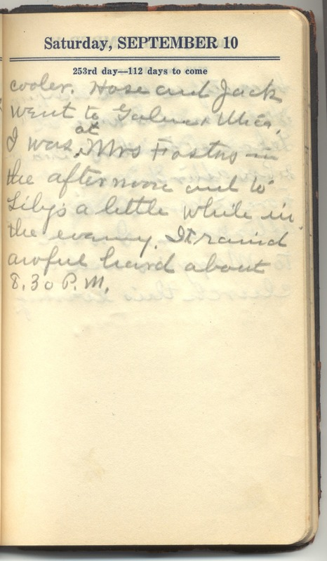 Roberta Hopkins' Diary 1927 (p. 259)
