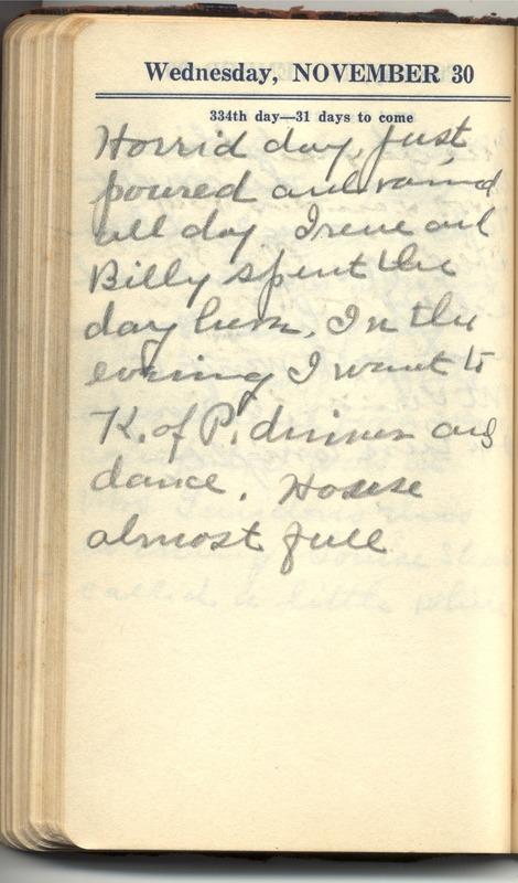 Roberta Hopkins' Diary 1927 (p. 340)
