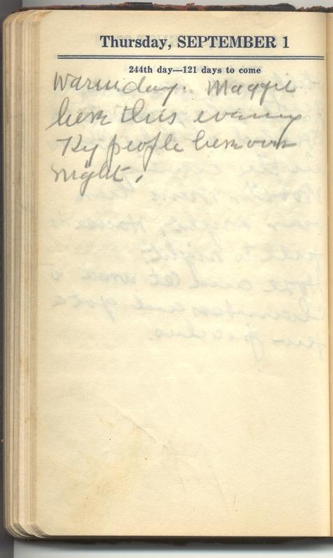 Roberta Hopkins' Diary 1927 (p. 250)