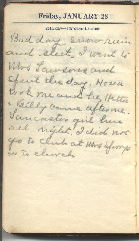 Roberta Hopkins' Diary 1927 (p. 34)