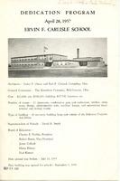 Dedication Program of Ervin F. Carlisle School