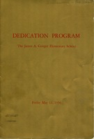 James A. Conger Elementary School Dedication Program